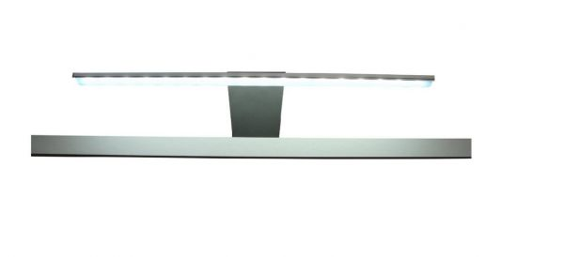 LED Spiegellampe Badlampe Gama in Chrom für Spiegelschränke mit Schalter-Steckdosenbox