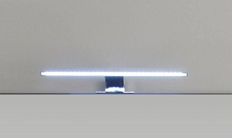 LED Spiegellampe Badlampe Gemo in Chrom für Spiegelschränke mit Schalter-Steckdosenbox