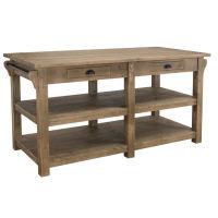 Massivholz Kücheninsel im Landhausstil Konfigurator alles frei wählbar