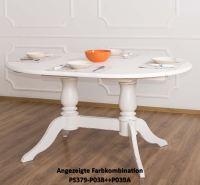 Ovaler Esstisch zum Ausziehen einfarbig lackiert