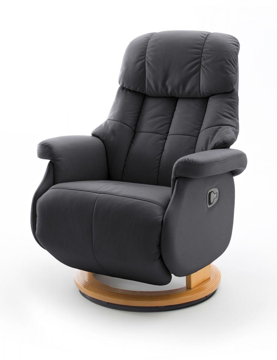 Relaxsessel Calgary L schwarz Leder