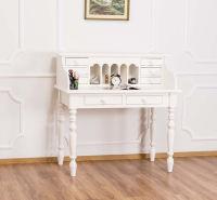 Romantischer Landhaus Schreibtisch altweiss lackiert
