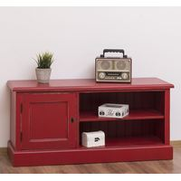 Rotes TV Lowboard Shabby Chic