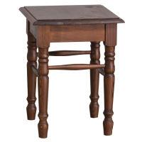 Rustikaler Hocker - Sitzfläche Eiche shabby chic - antik look