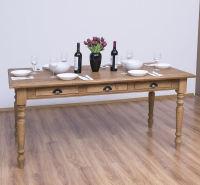 Rustikaler Landhaus-Esstisch mit Schubladen - 180 cm