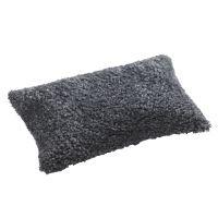Schaffell Kissen hochwertig 30x50 cm Charcoal