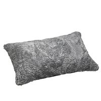 Schaffell Kissen hochwertig 30x50 cm Scand Grey