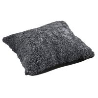 Schaffell Kissen hochwertig 50x50 cm Charcoal