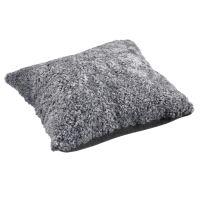 Schaffell Kissen hochwertig 50x50 cm Graphite