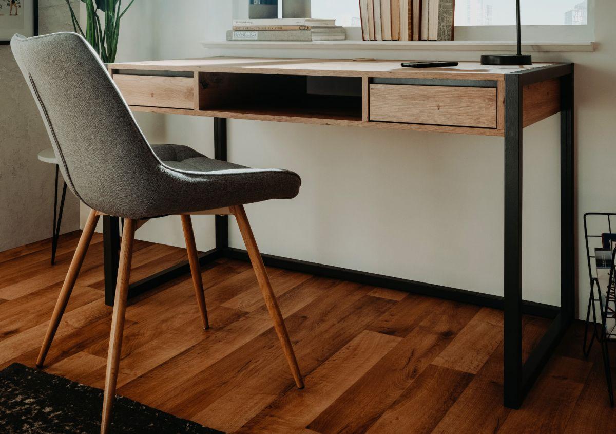 Schreibtisch Denver in Artisan Eiche und Anthrazit 120 x 60 cm