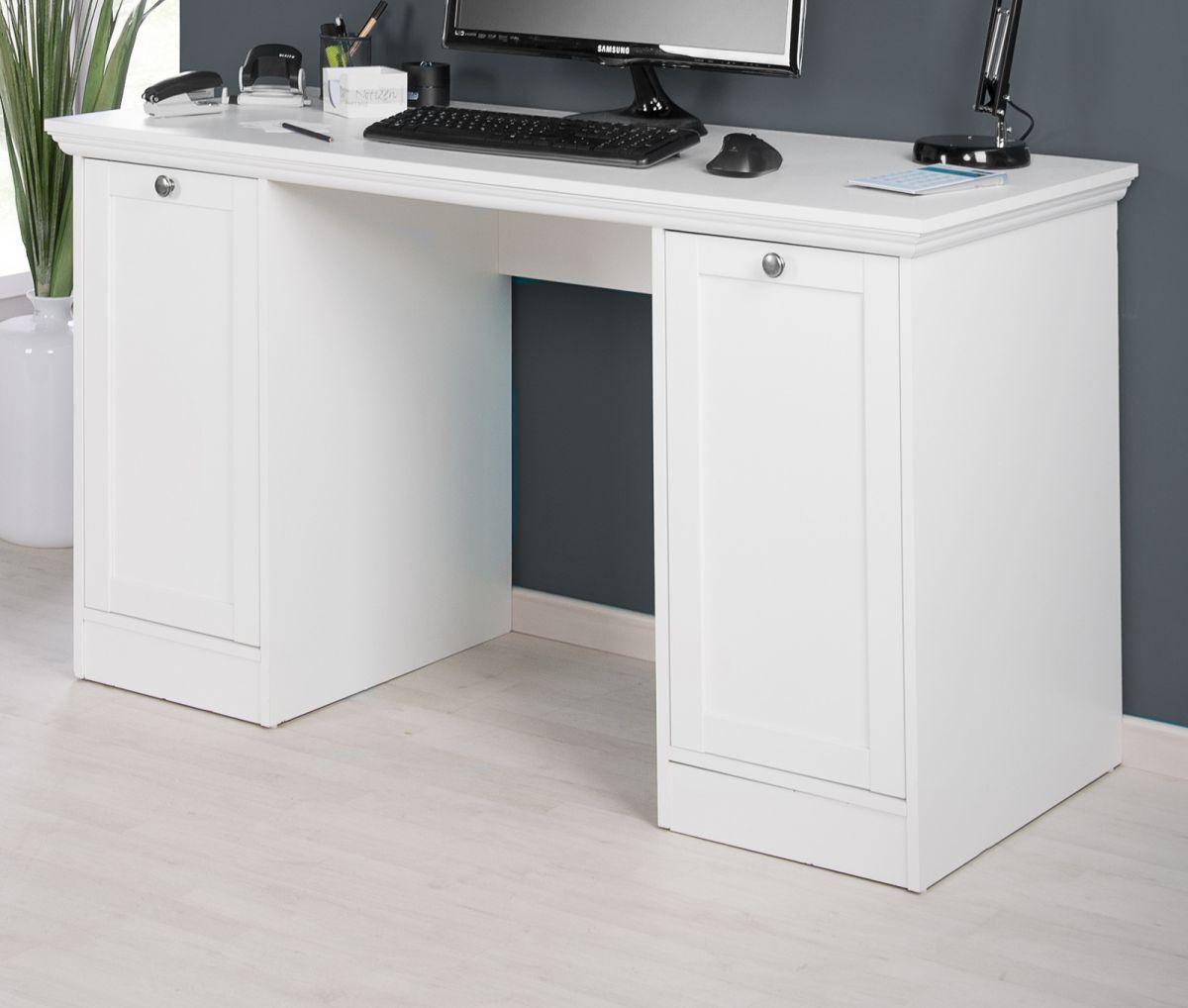 Schreibtisch Landwood weiss 135 x 63 cm