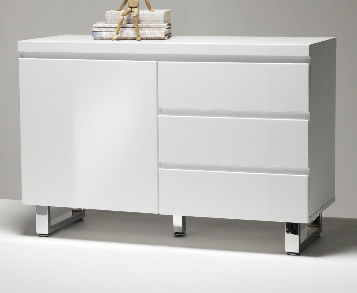 Sideboard Hochglanz weiss Lack 111 cm