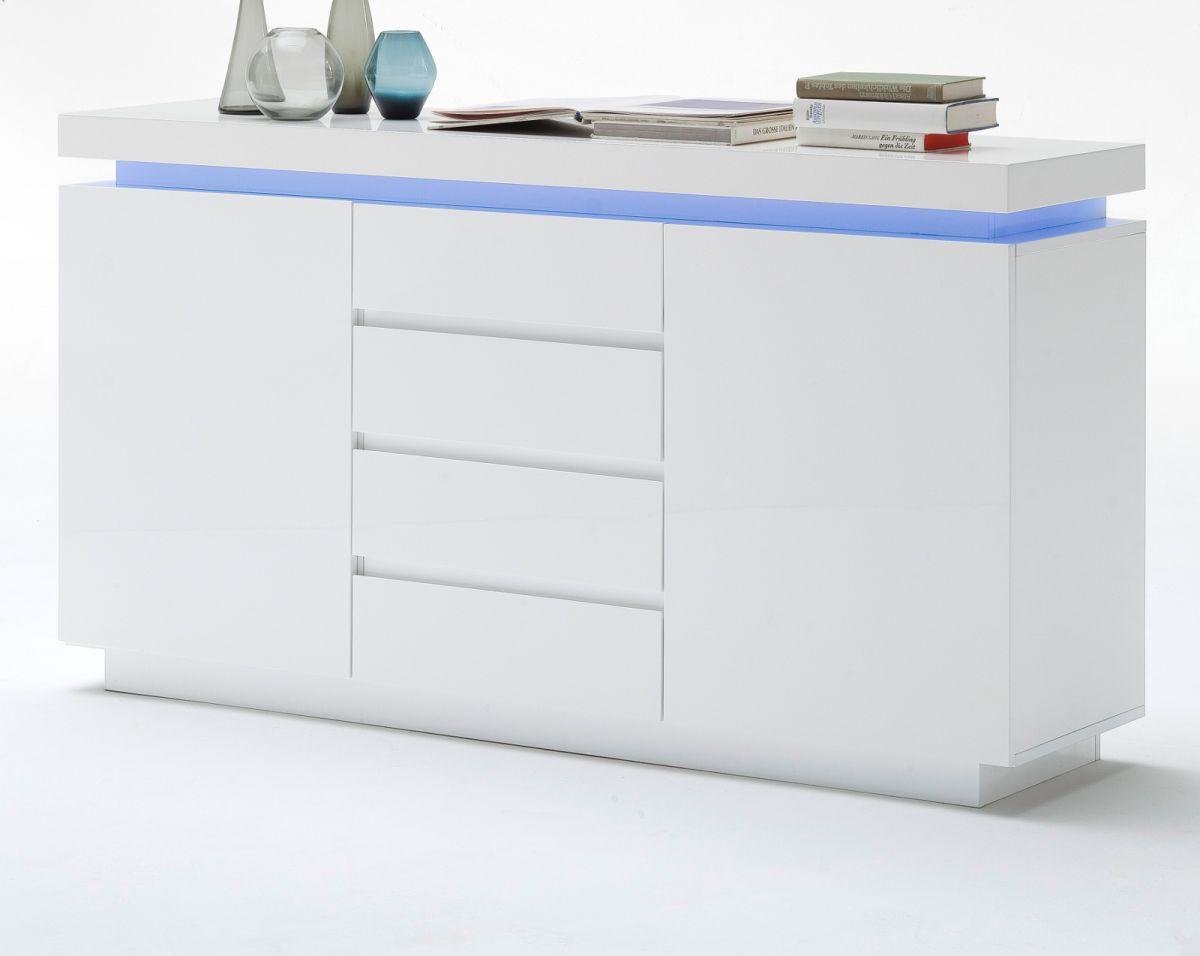 Sideboard Hochglanz weiss Lack 150 cm