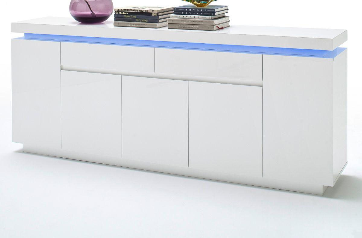 Sideboard Hochglanz weiss Lack 200 cm