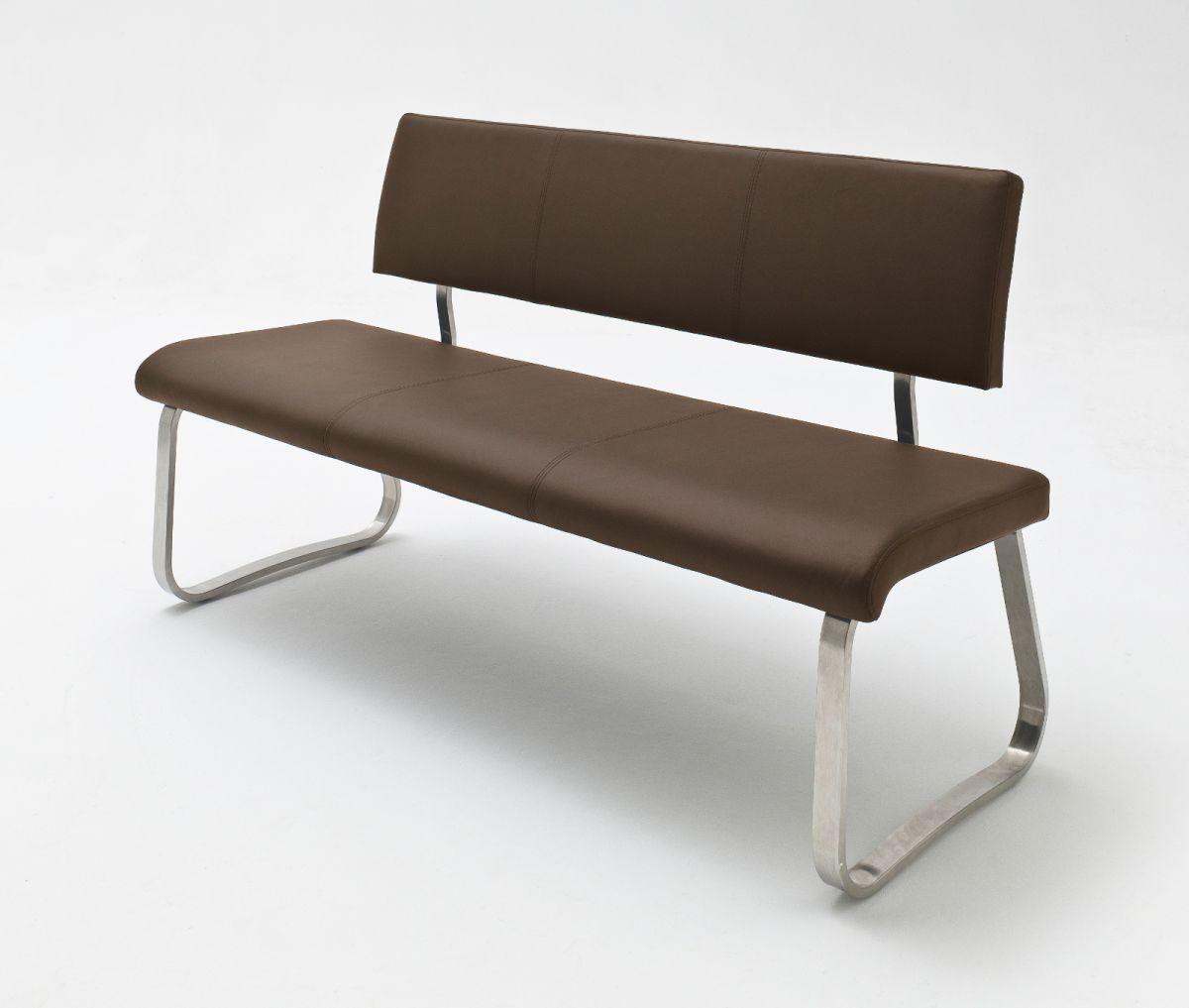 Sitzbank Arco Braun Kunstleder 155 cm