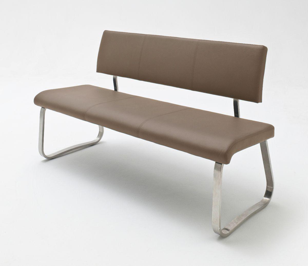 Sitzbank Arco Cappuccino Leder 155 cm