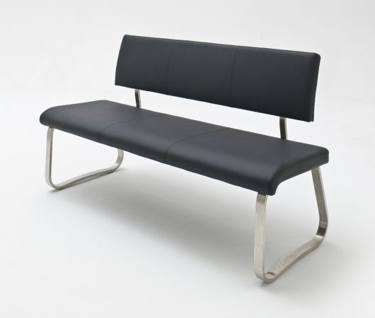 Sitzbank Arco Schwarz Leder 155 cm