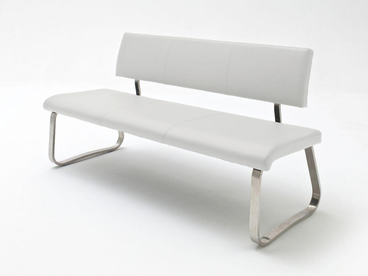 Sitzbank Arco Weiss Kunstleder 175 cm