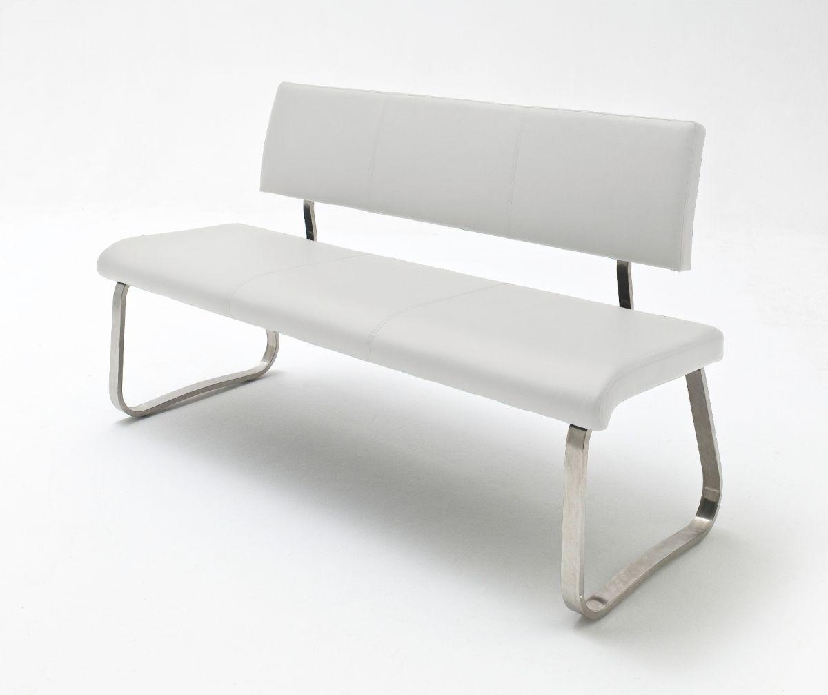 Sitzbank Arco Weiss Leder 155 cm