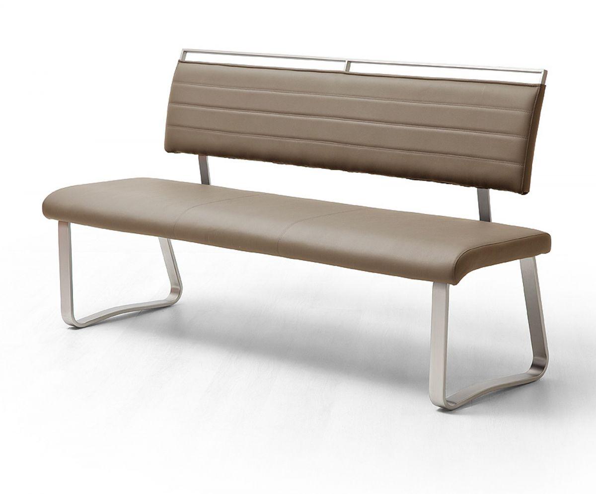 Sitzbank Pescara Cappuccino Kunstleder 155 cm