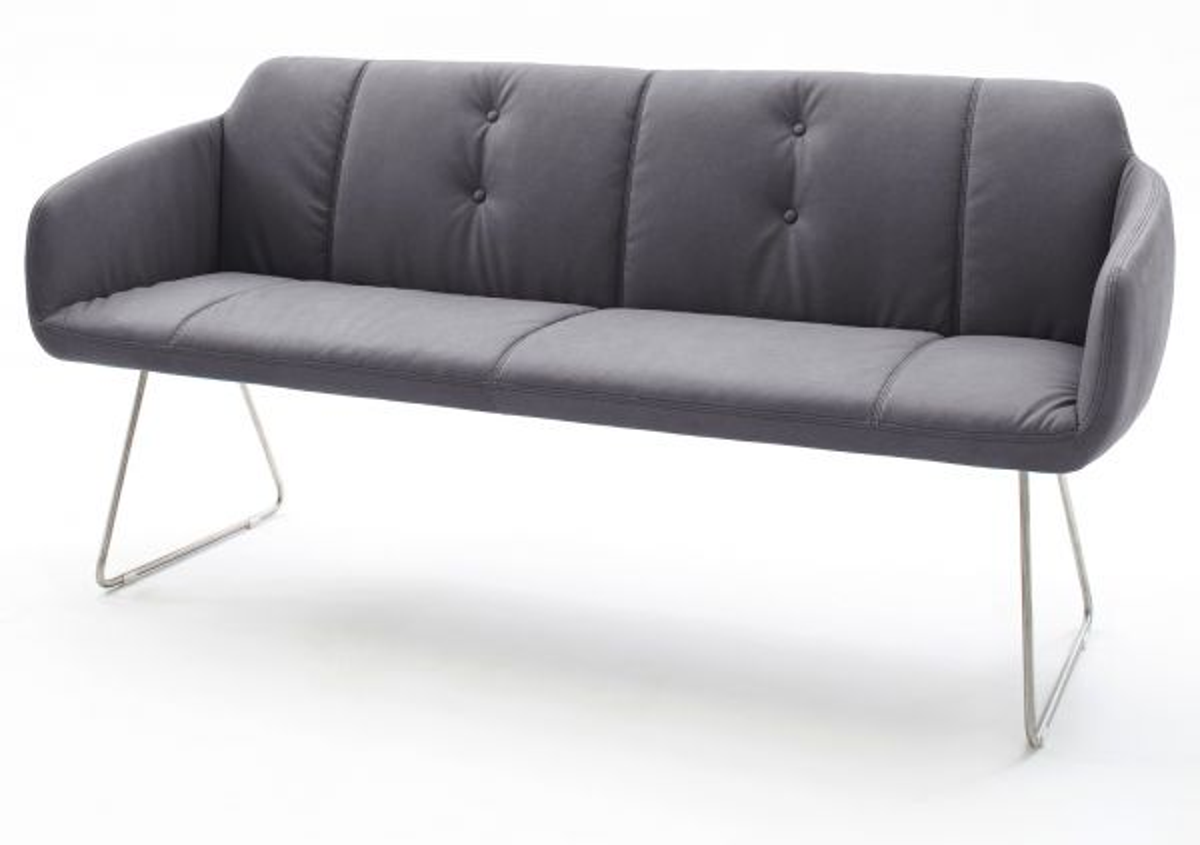 Sitzbank Tessera Grau Kunstleder 160 cm