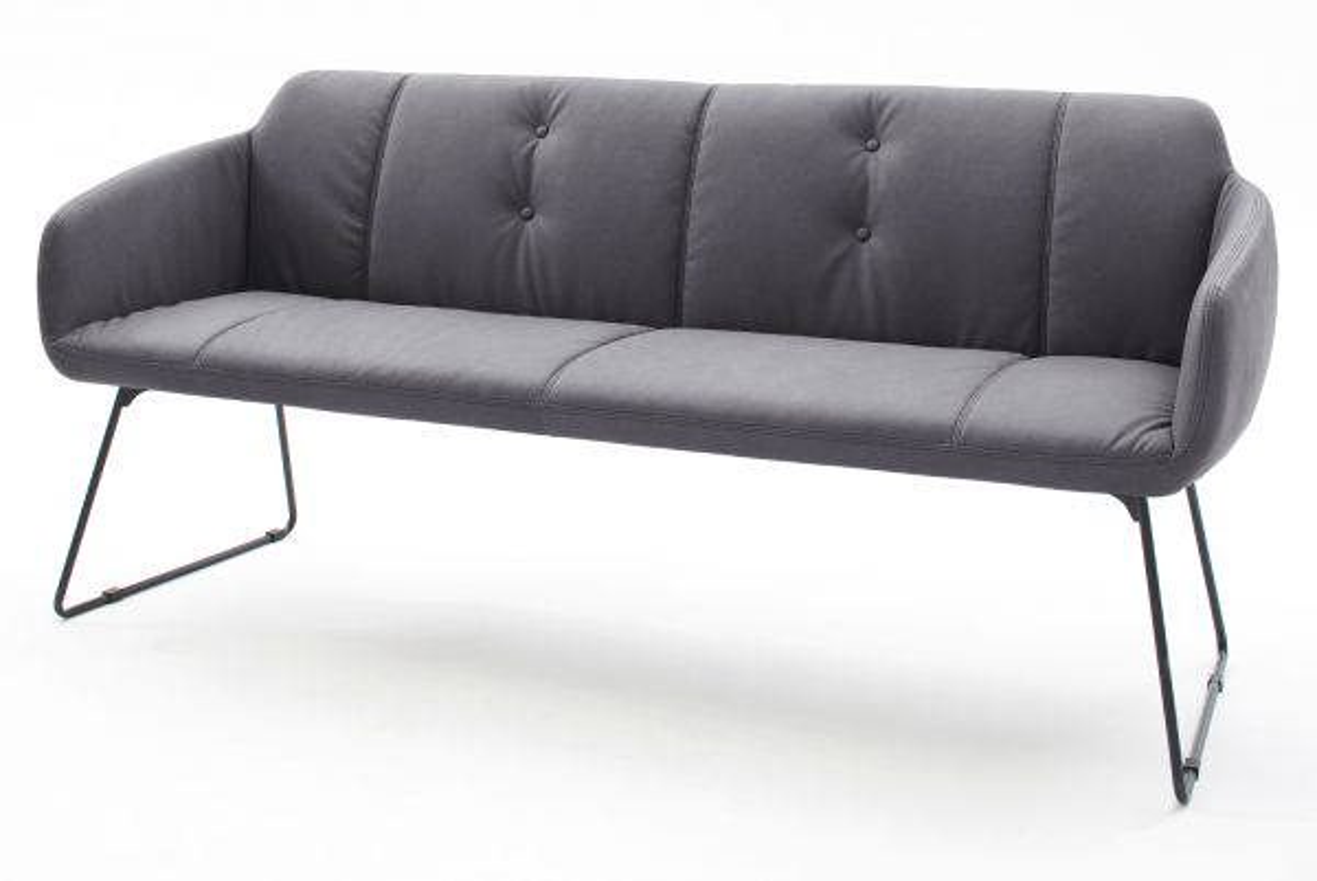 Sitzbank Tessera Grau Kunstleder 180 cm