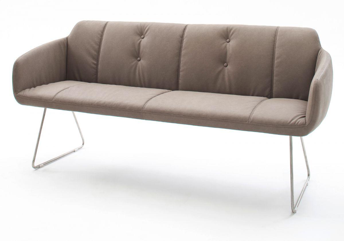 Sitzbank Tessera Schlamm Kunstleder 160 cm
