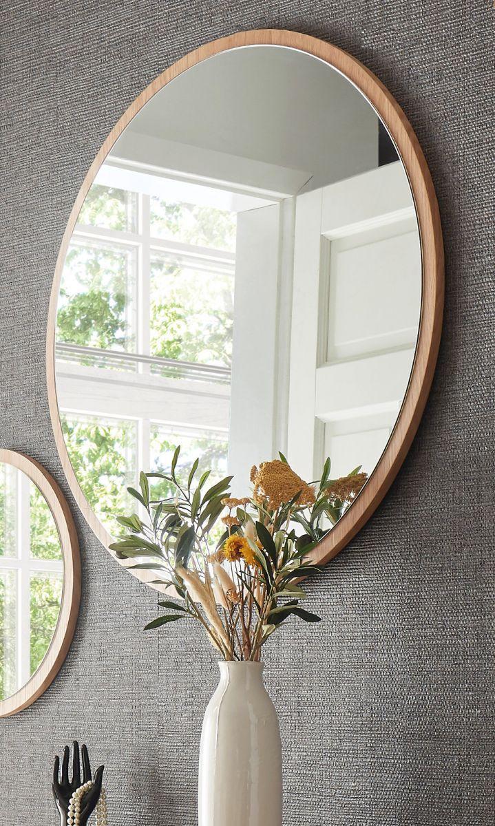Spiegel Agra in Eiche rund - 75 cm