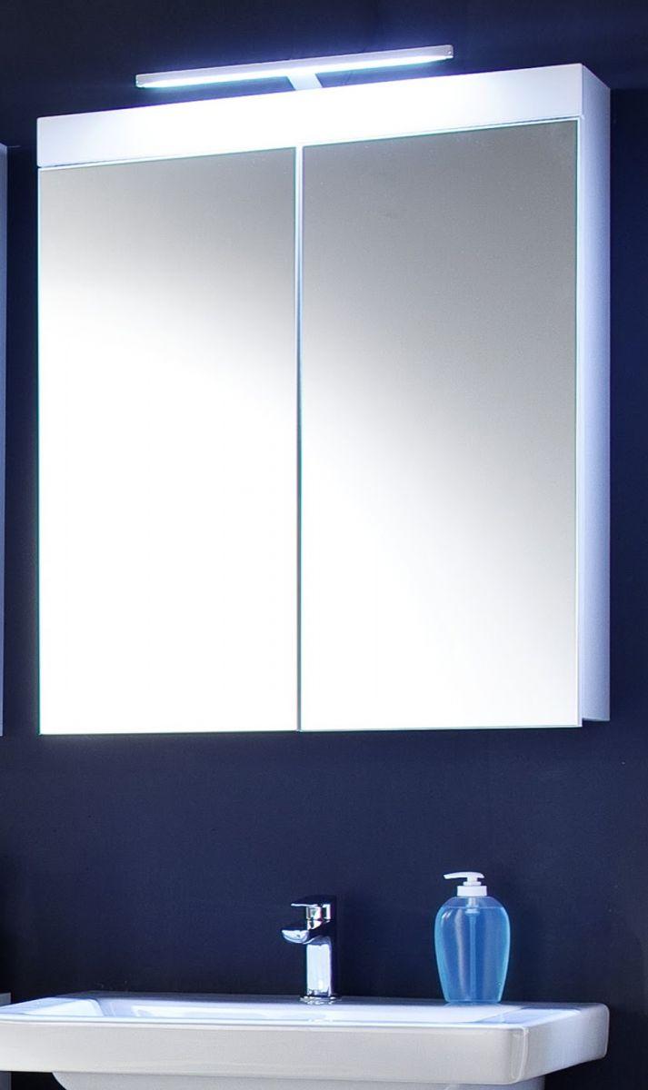 Spiegelschrank Amanda Hochglanz weiss 60 cm mit LED Beleuchtung