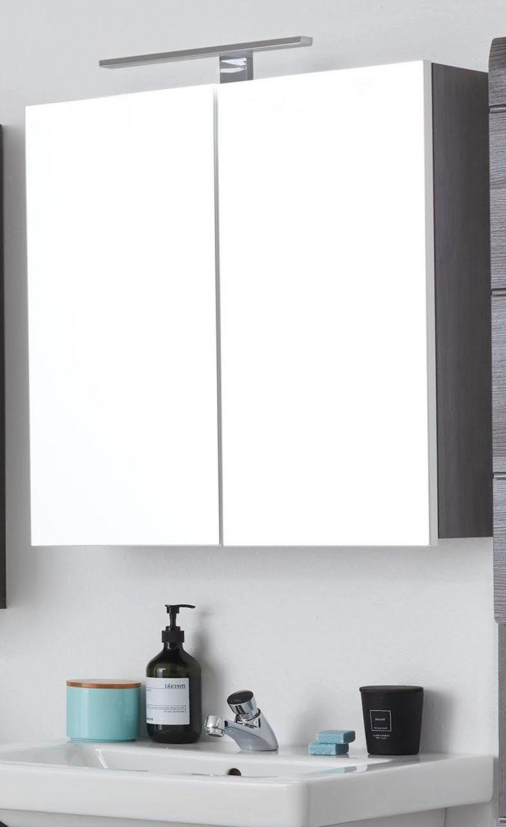 Spiegelschrank Line Sardegna grau Rauchsilber 60 x 67 cm