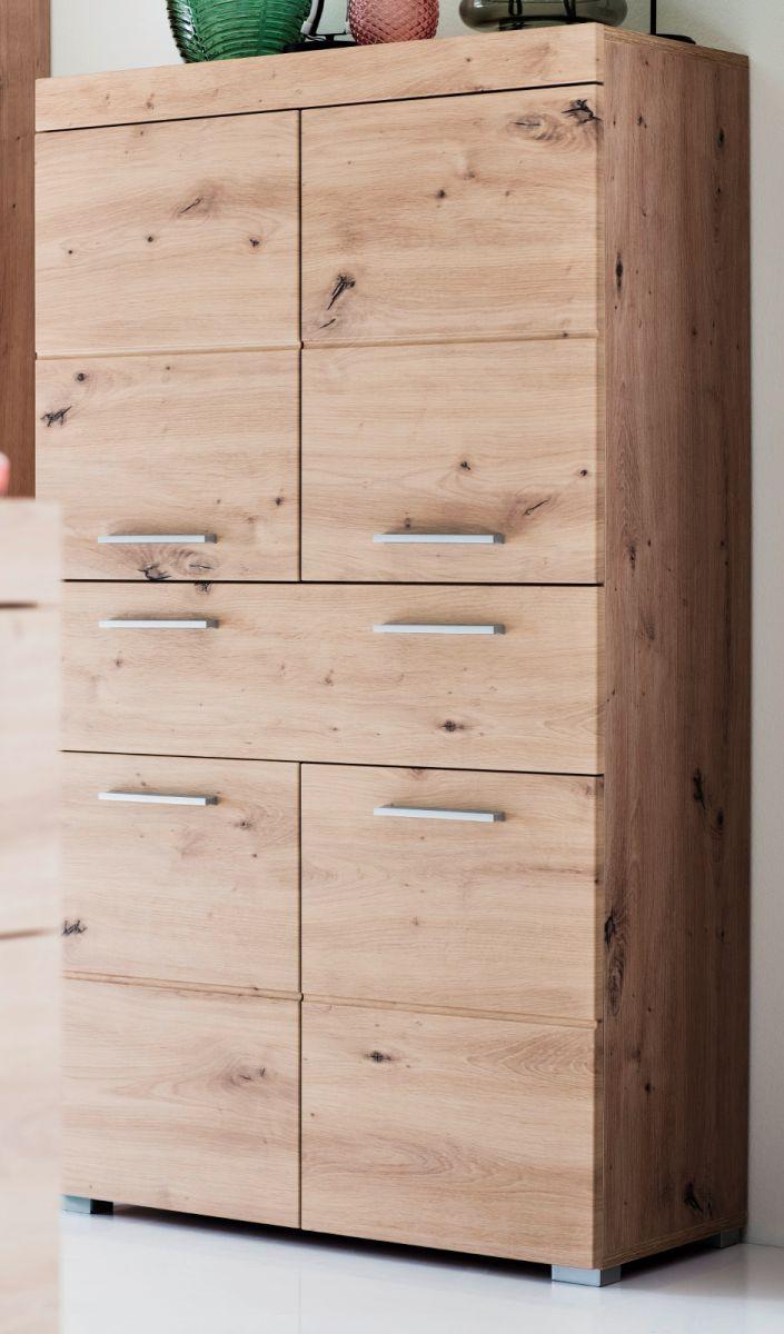 Standschrank Badmöbel Amanda Eiche 73 cm