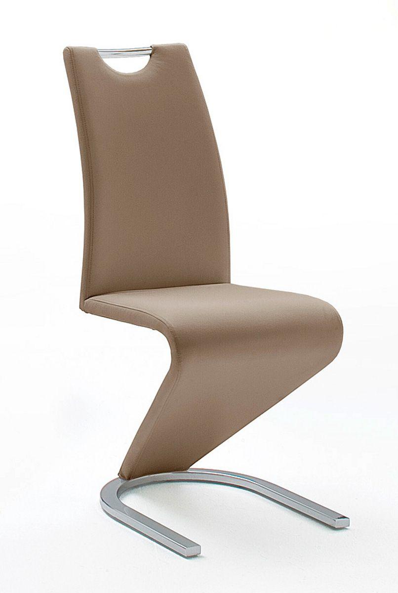 Stühle 2er-Set Amado cappuccino Esszimmer Freischwinger