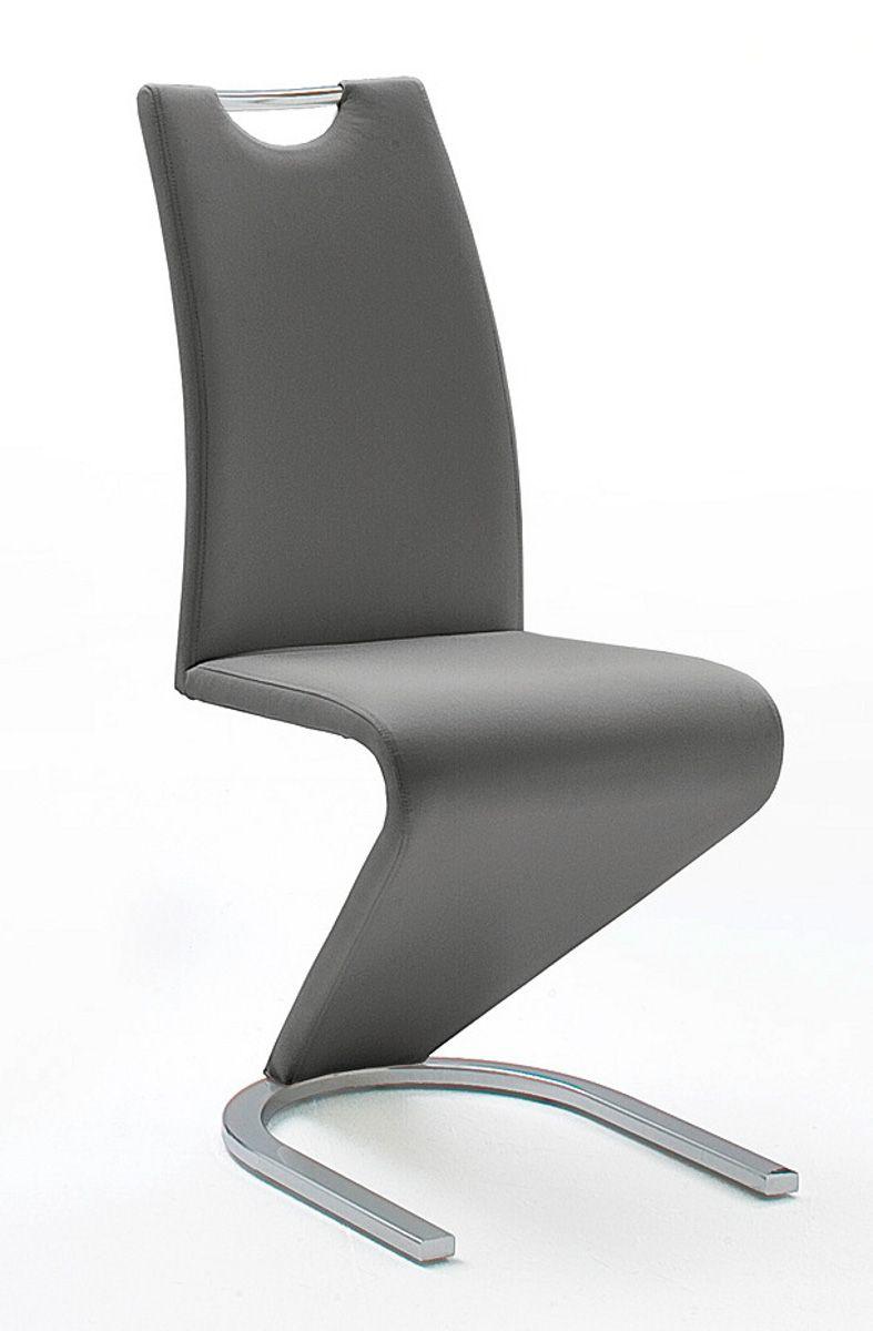 Stühle 2er-Set Amado grau Esszimmer Freischwinger