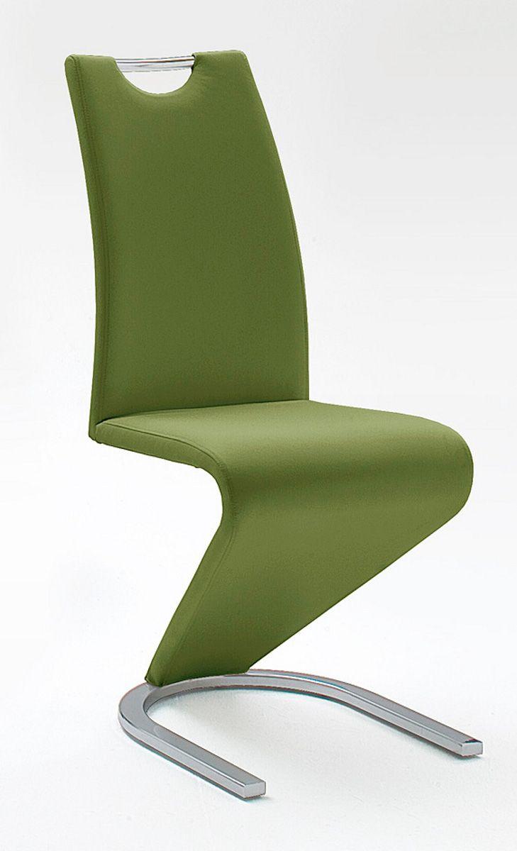 Stühle 2er-Set Amado olive Esszimmer Freischwinger