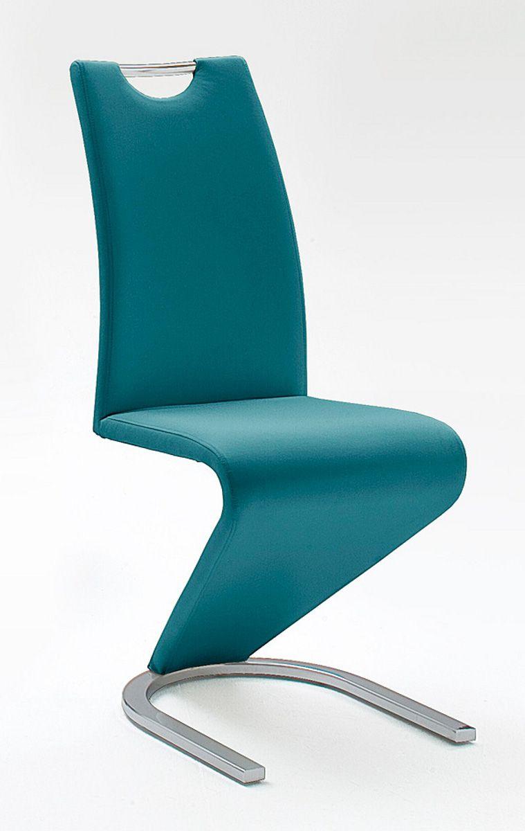 Stühle 2er-Set Amado petrol Esszimmer Freischwinger