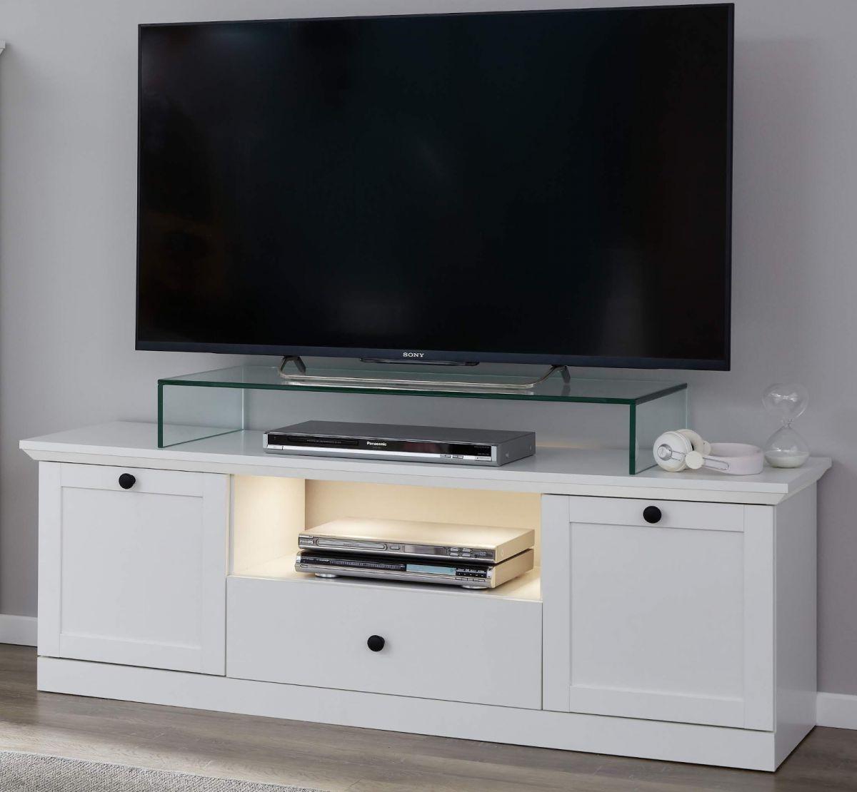 TV-Lowboard Baxter in weiss Landhaus 140 cm