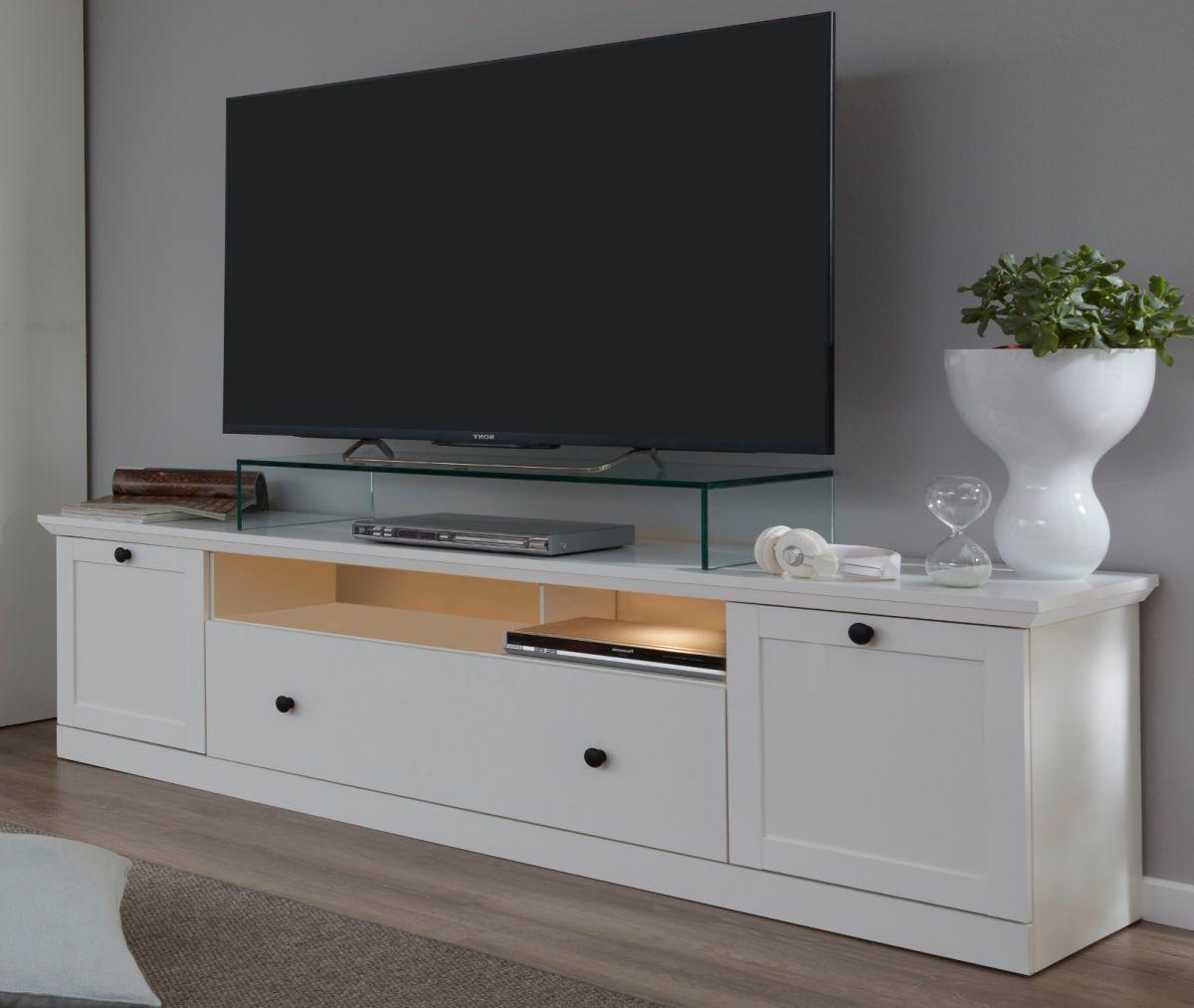 TV-Lowboard Baxter in weiss Landhaus 177 cm