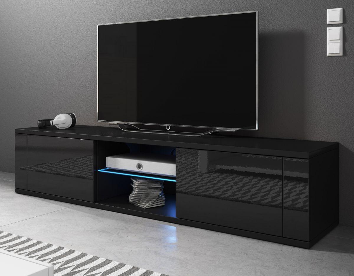 TV-Lowboard Chart Hochglanz schwarz 140 cm