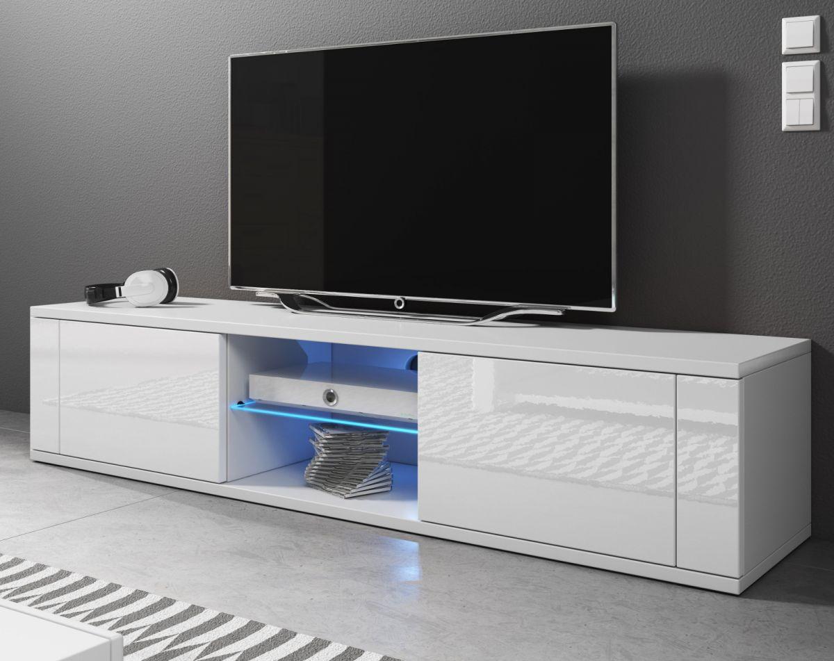 TV-Lowboard Chart Hochglanz weiss 140 cm