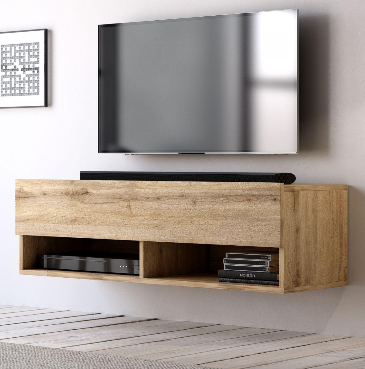 TV-Lowboard Epsom Wotan Eiche hängend 100 cm
