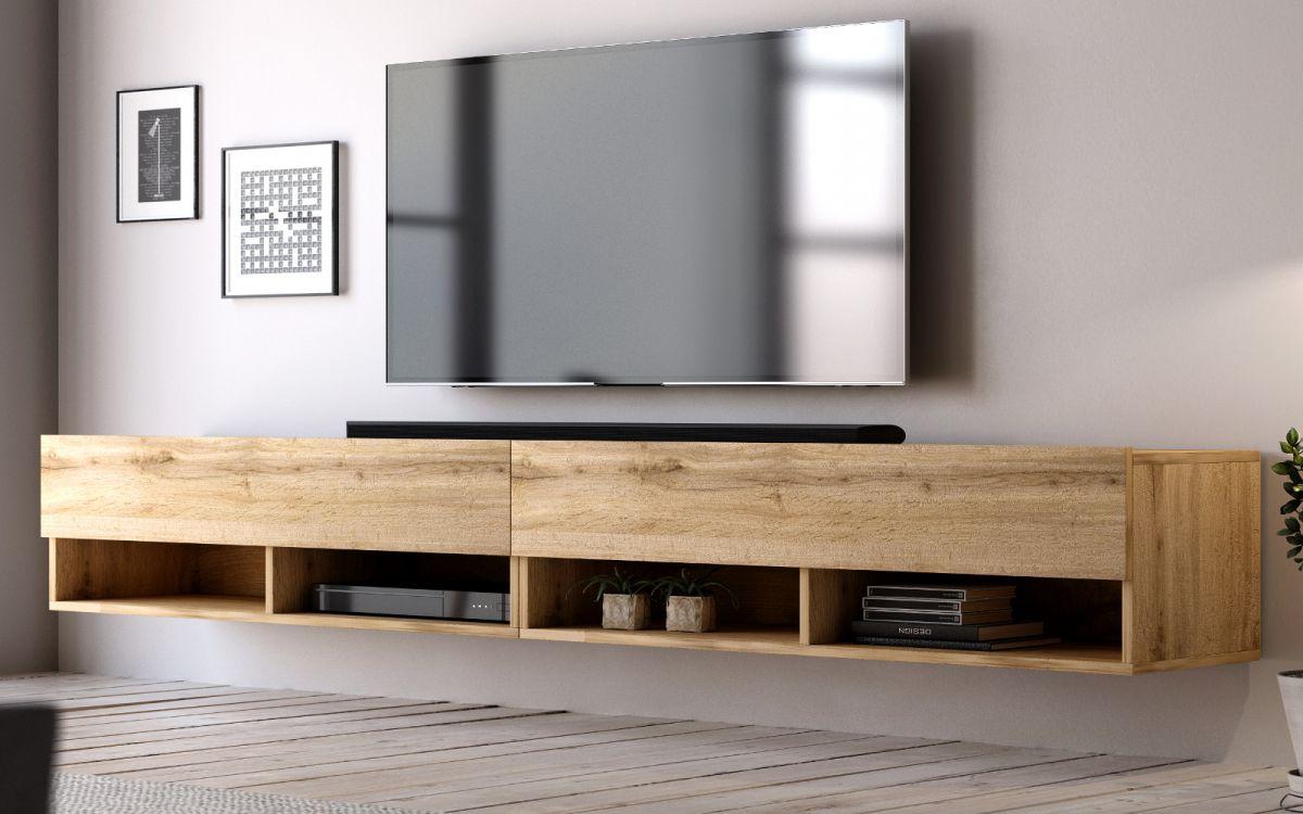 TV-Lowboard Epsom Wotan Eiche hängend 280 cm