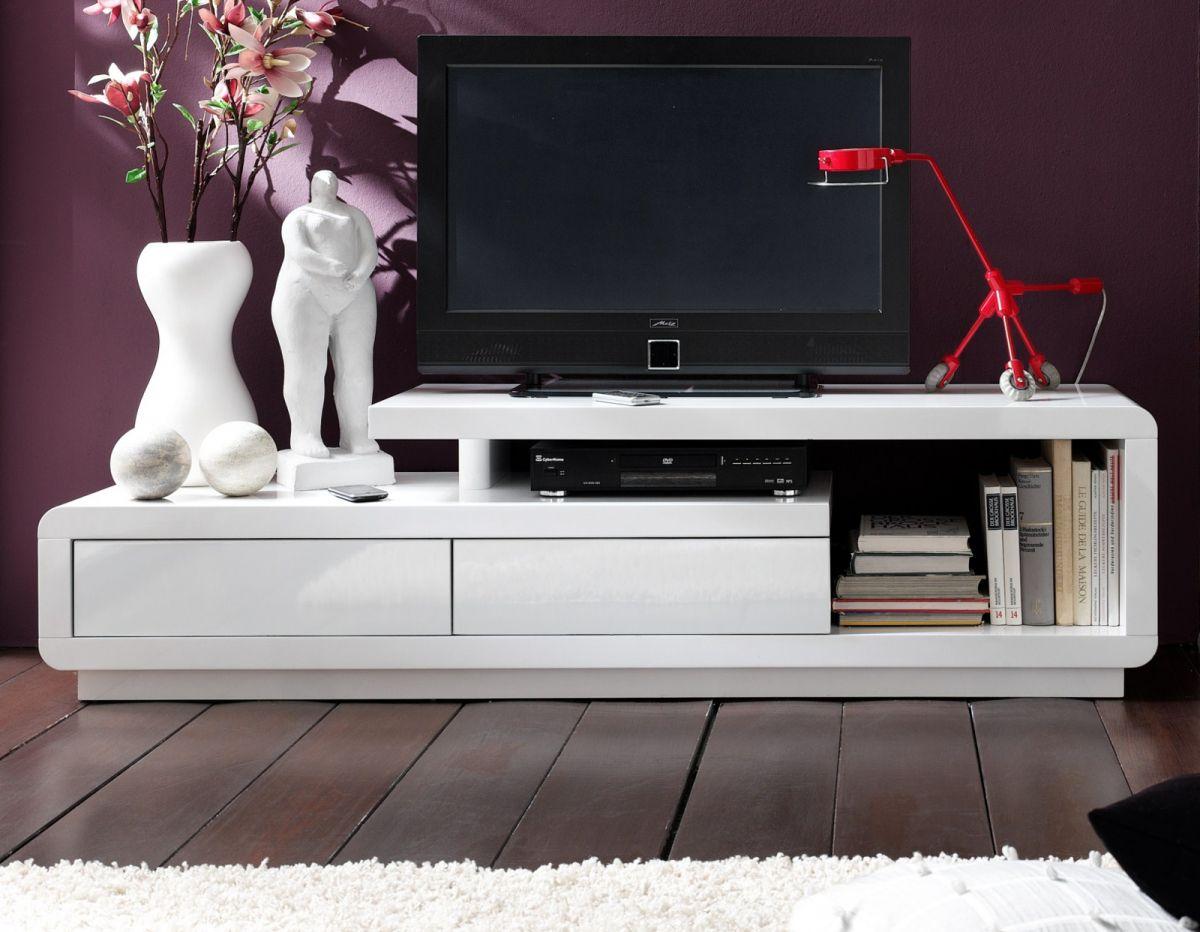 TV-Lowboard Hochglanz weiss 170 cm