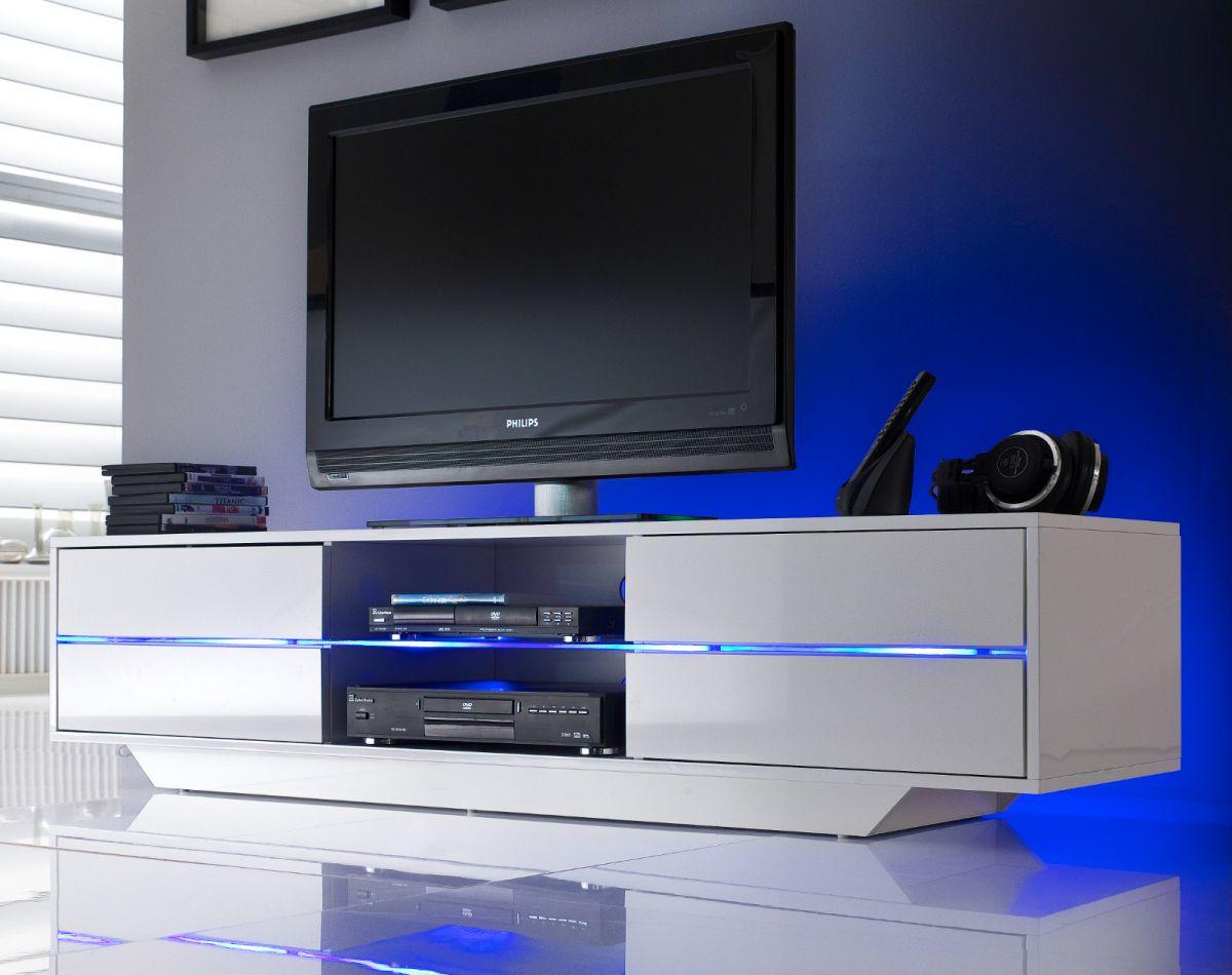 TV-Lowboard Hochglanz weiss Lack 160 cm