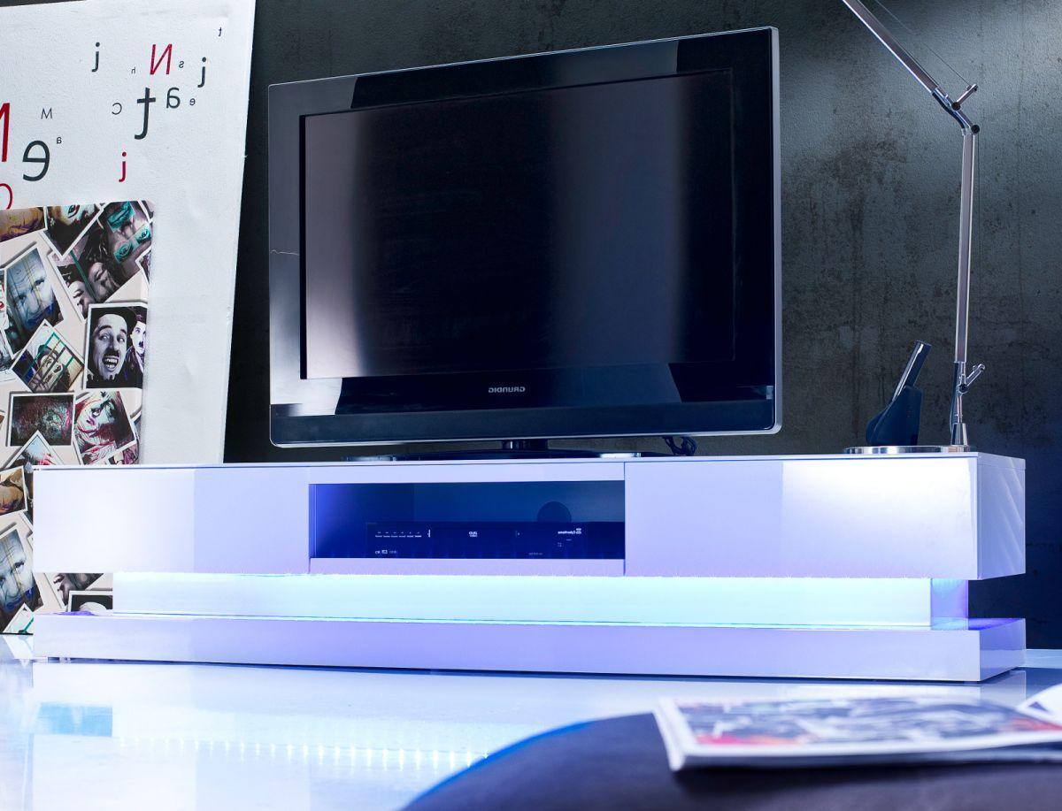 TV-Lowboard Hochglanz weiss Lack 180 cm