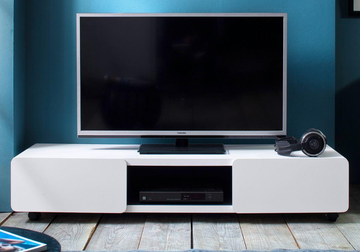TV-Lowboard in weiss Jeff 140 cm