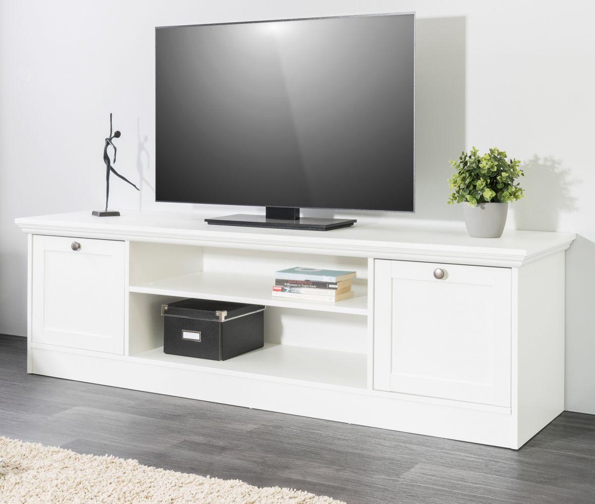TV-Lowboard Landwood weiss 160 x 48 cm