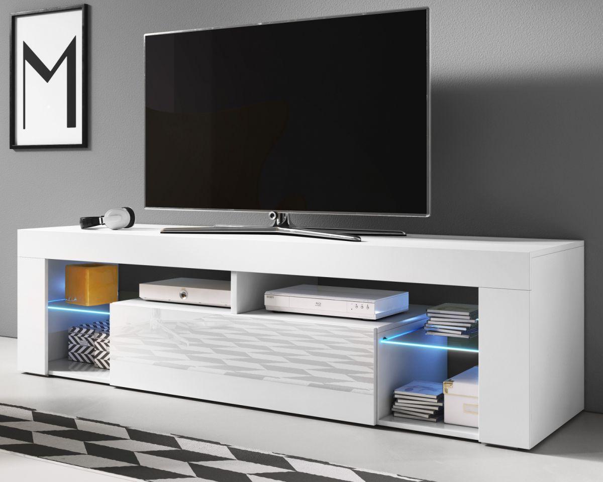 TV-Lowboard Mount in Hochglanz weiss 140 cm
