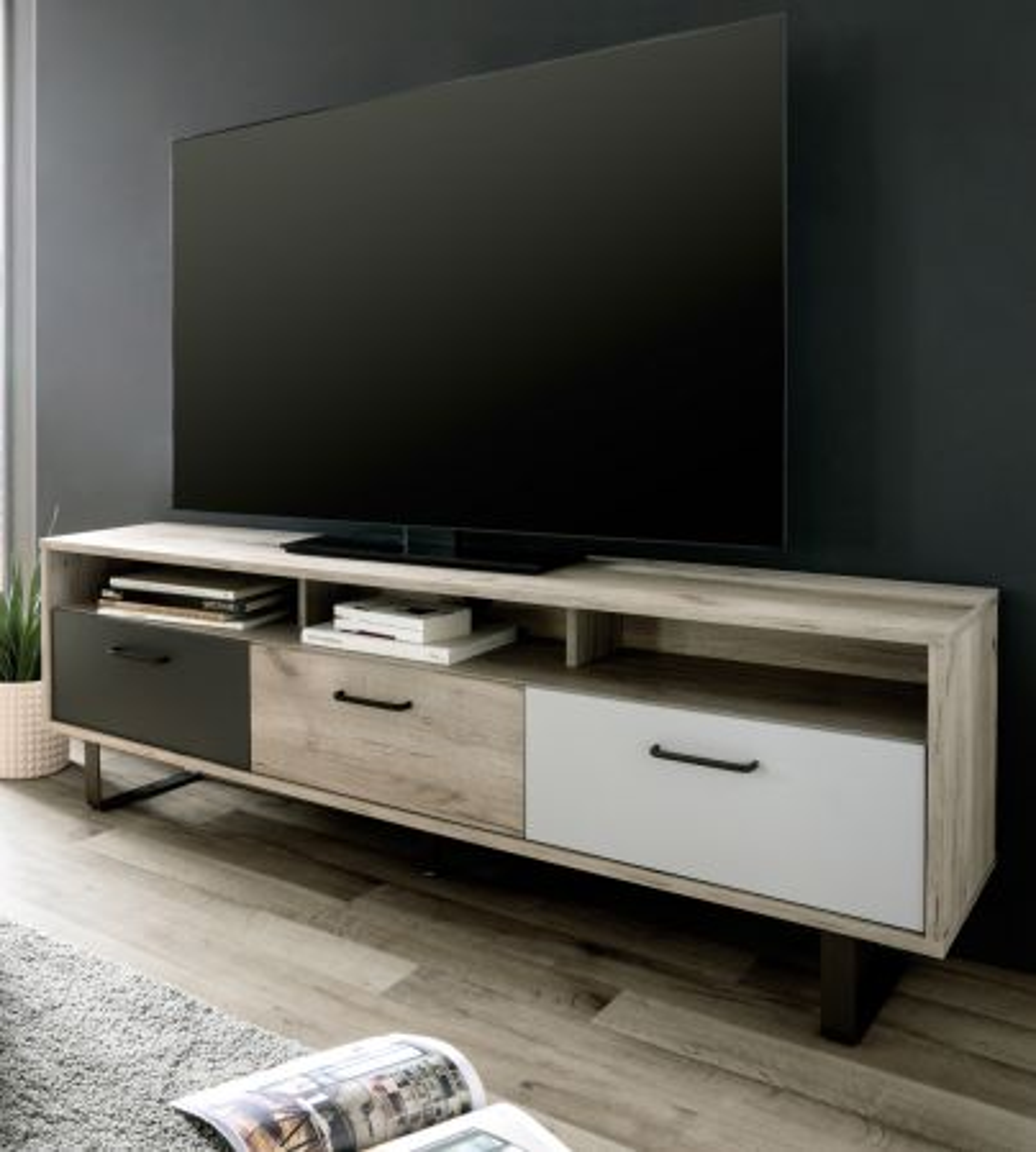 TV-Lowboard Orlando Eiche Tricolor 160 x 53 cm