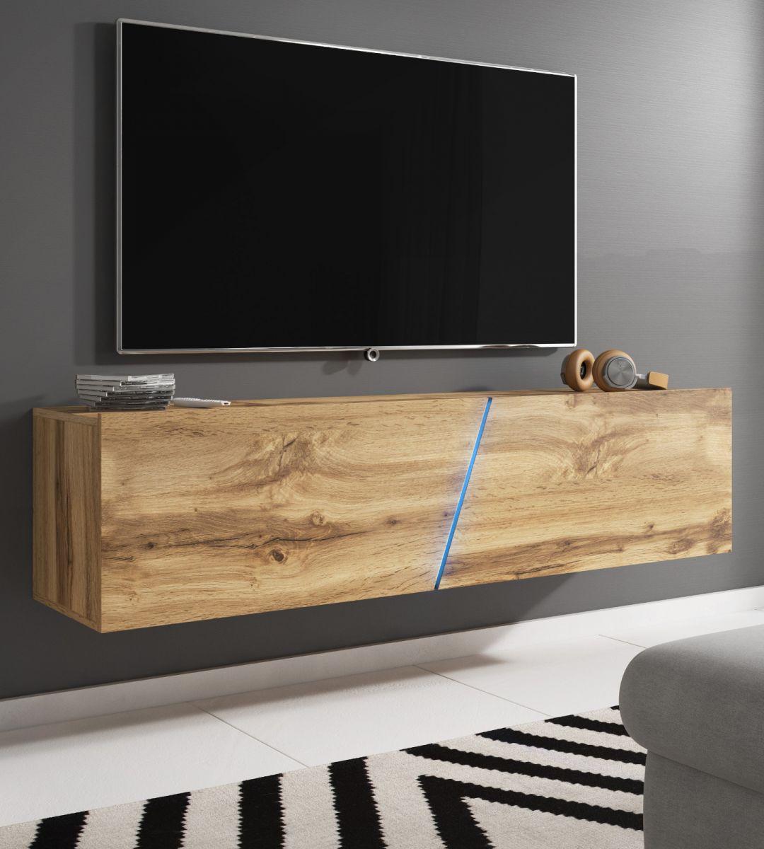 TV-Lowboard Space Eiche mit Beleuchtung 160 cm