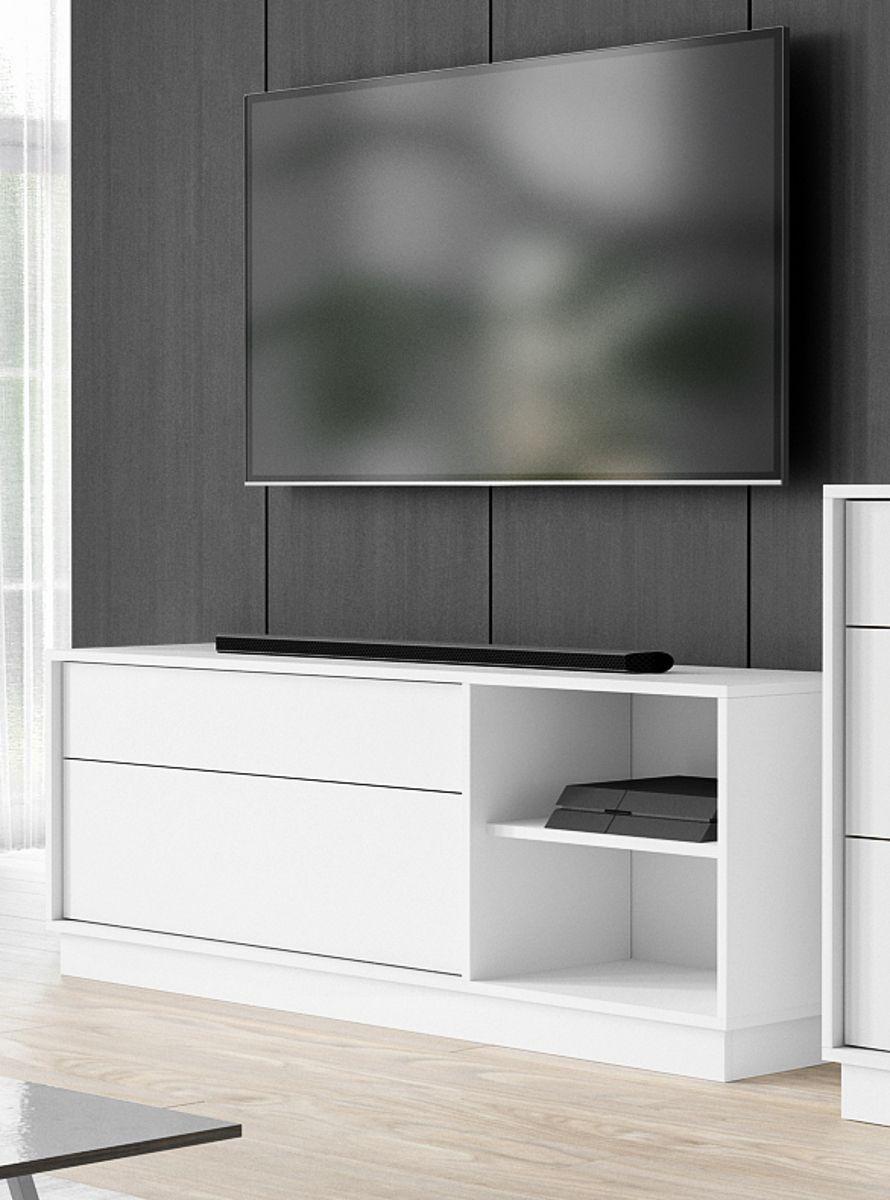TV-Lowboard Stream in weiss 136 x 52 cm